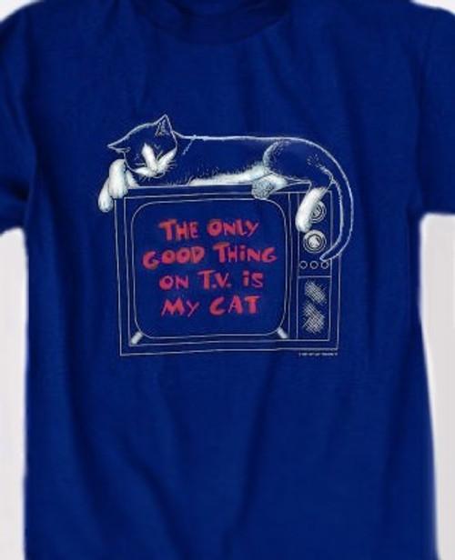 CAT TV T-SHIRT NAVY