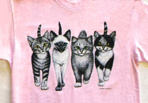 KITTENS COMING AND GOING PINK SWEATSHIRT