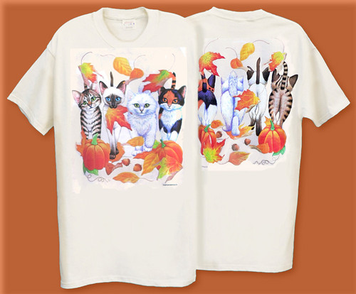 HARVEST KITTENS COMING AND GOING T-SHIRT NATURAL