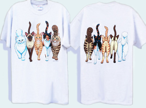 CATS COMING AND GOING DELUXE T-SHIRT WHITE