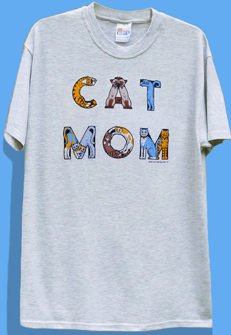 CAT MOM T-SHIRT ASH