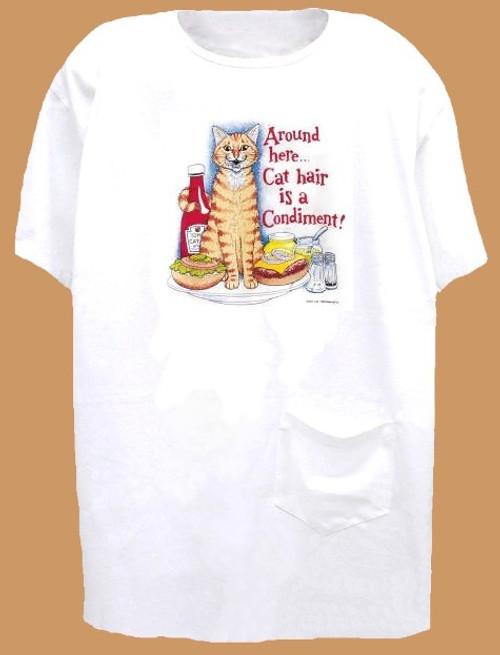 CONDIMENT CAT NIGHTSHIRT WHITE ONE SIZE