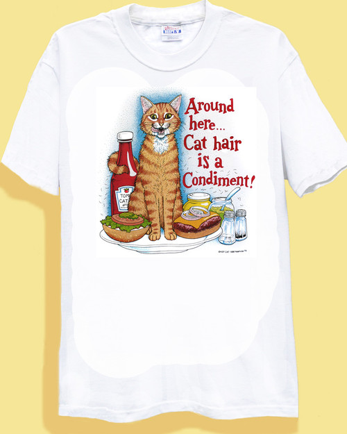 CONDIMENT CAT T-SHIRT WHITE