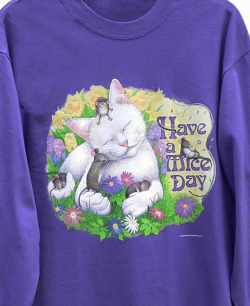 MICE DAY CAT SWEATSHIRT PURPLE