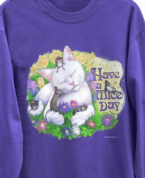 MICE DAY CAT SWEATSHIRT PURPLE