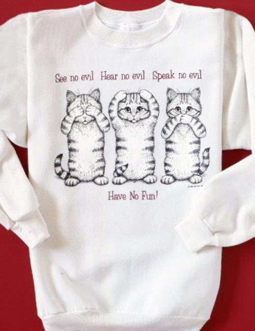 NO EVIL CAT SWEATSHIRT NATURAL