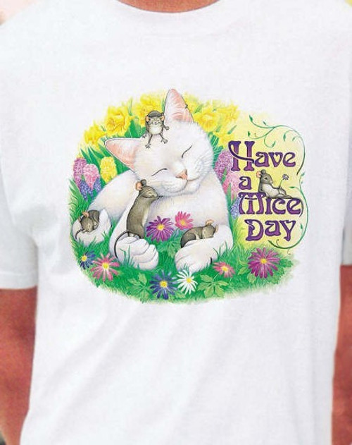 MICE DAY CAT T-SHIRT WHITE