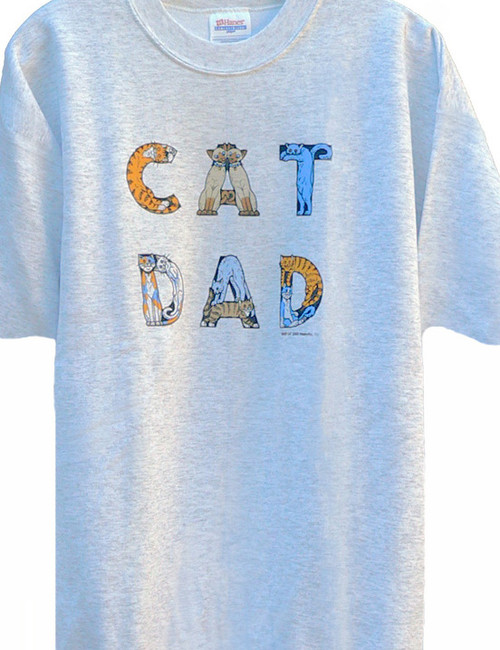 CAT DAD T-SHIRT ASH