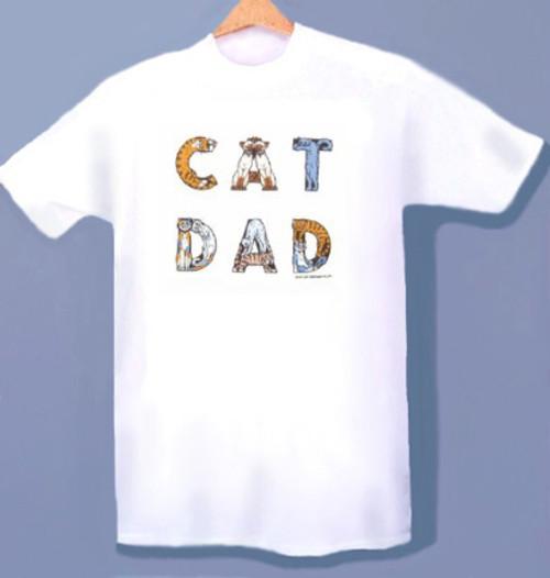 CAT DAD T-SHIRT WHITE
