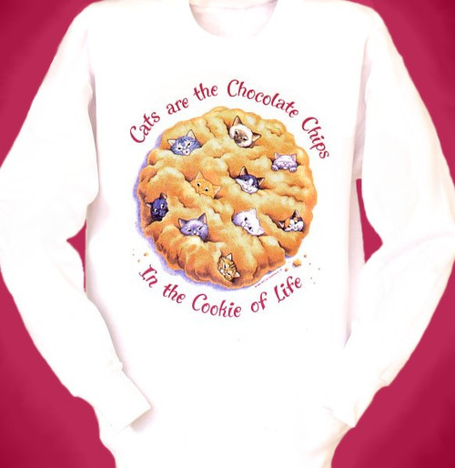 COOKIE CATS SWEATSHIRT WHITE