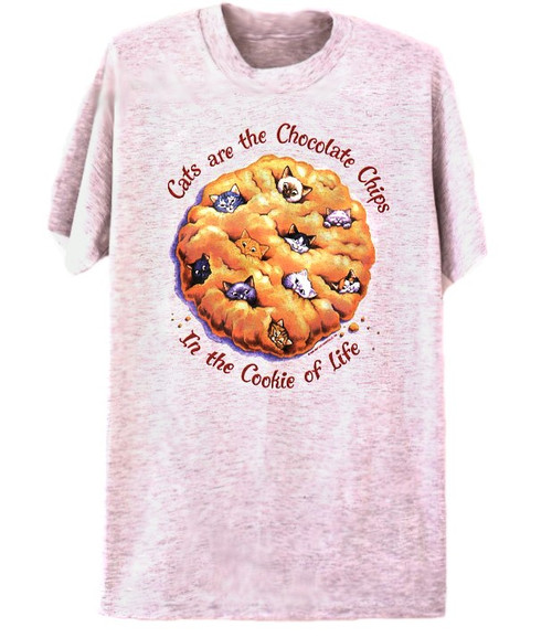 COOKIE CATS T-SHIRT ASH
