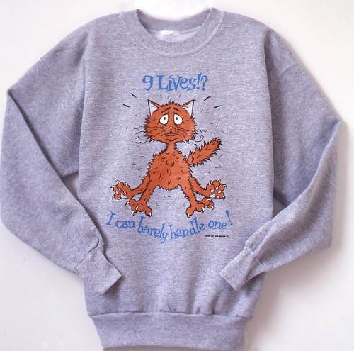 NINE LIVES CAT SWEATSHIRT GREY