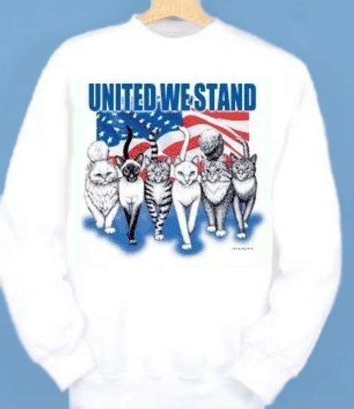 UNITED WE STAND CAT SWEATSHIRT