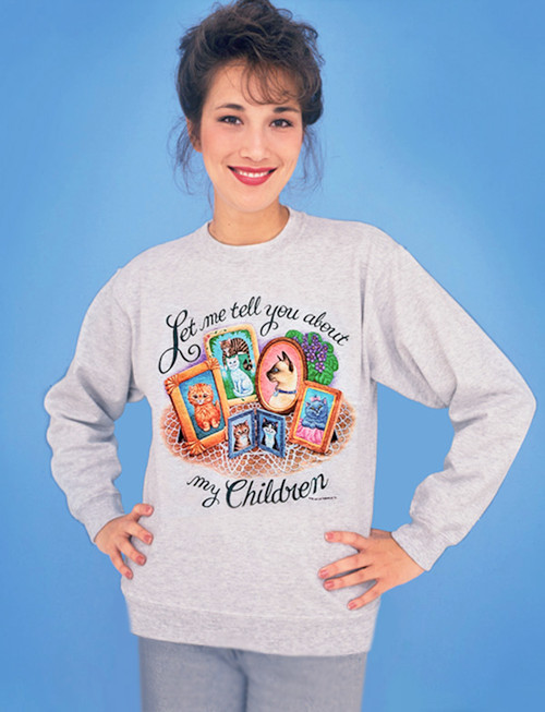 MY CHILDREN CAT 3X ASH SWEATSHIRT
