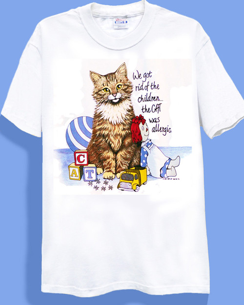 ALLERGIC CAT T-SHIRT WHITE