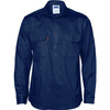 3204 - Close Front Cotton Drill L/S Shirt