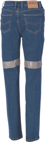 3339 - Ladies Taped Denim Stretch Jeans CSR R/Tape