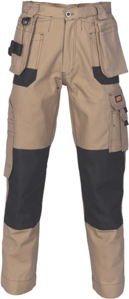 3337 - Duratex Cotton Duck Weave Tradies Cargo Pants with twin holster tool pocket - knee pads not included