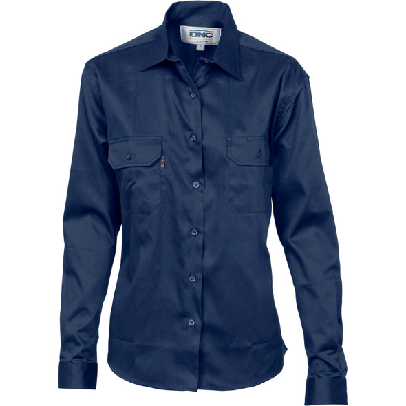 3232 - Ladies Cotton Drill Work Shirt - Long Sleeve