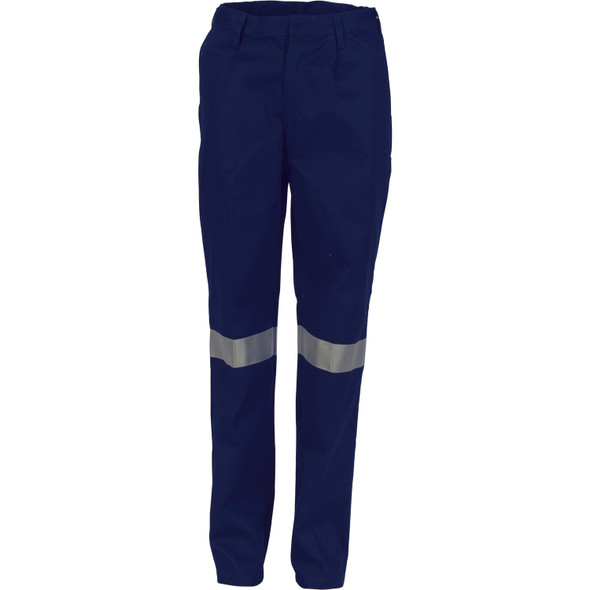 3328 - Ladies Cotton Drill Pants With 3M Reflective Tape