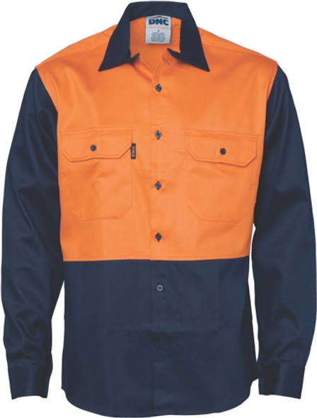 3406 - Patron Saint Flame Retardant Two Tone Drill Shirt - L/S