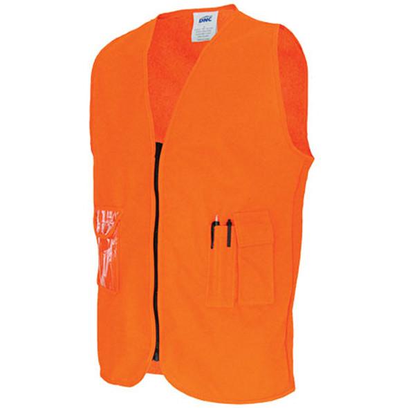 3806 - Daytime Side Panel Safety Vests - Orange