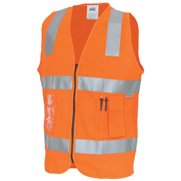 3807 - Day/Night Side Panel Safety Vests - Orange