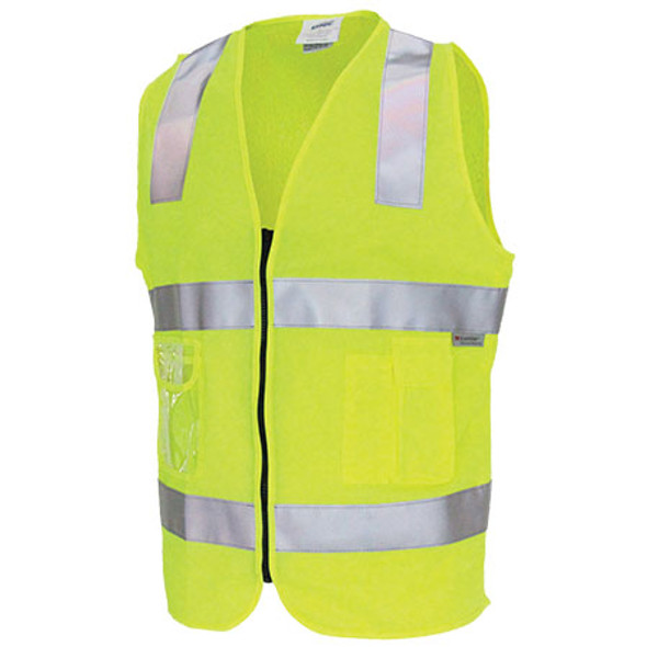 3807 - Day/Night Side Panel Safety Vests - Yellow