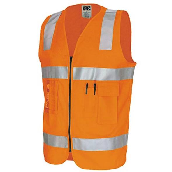 3809 - Day/Night Cotton Safety Vests - Orange