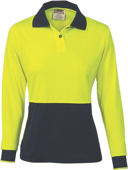 3898 - 175gsm Ladies HiVis Polo, L/S