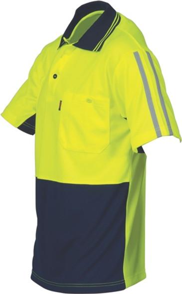 3755 - HiVis Cool-Breathe Stripe Polo - Short Sleeve