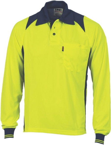 3894 - 175gsm HiVis Action Polo Shirt, L/S
