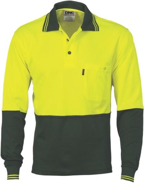 3816 - 185gsm Cotton Back Fluoro Polo Shirt