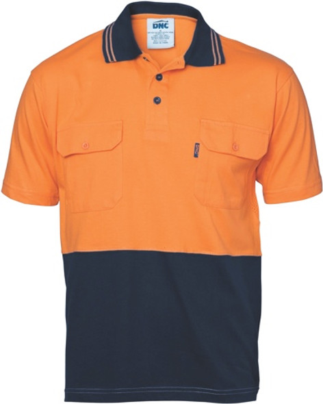 3943 - 200gsm HiVis Jersey Polo Shirt w/Vents