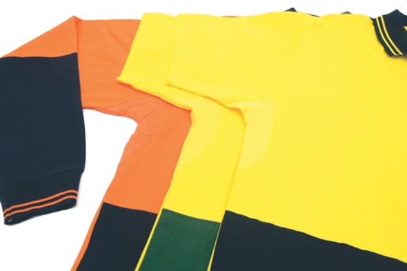 3846 - 200gsm HiVis Jersey Polo Shirt w/Vents