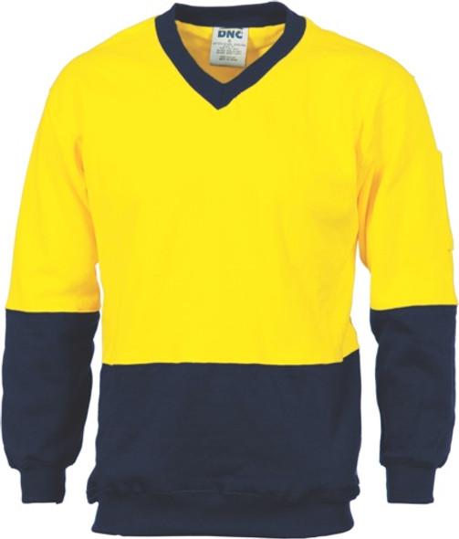 3922 - 300gsm Fleecy Sweat V-Neck Shirt