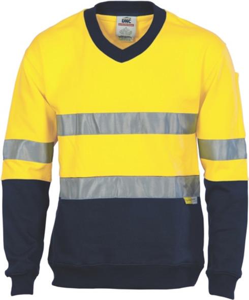 3924 - 300gsm Sweat Shirt V-Neck w/Tape