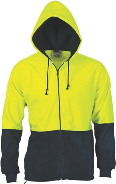 3927 - 300gsm Two Tone Full Zip Polar Fleece Hoodie