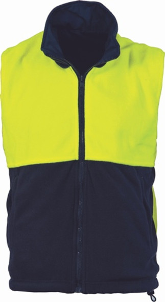 3826 - 290gsm Polyester Polar Fleece Reversible Vest