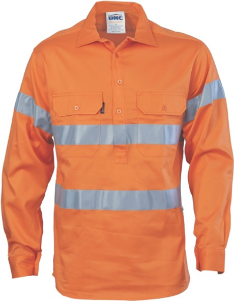 3945 - 155gsm Close Front Shirt  w/Vents & Tape