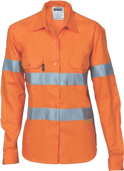 3785 - 155gsm Ladies HiVis Cool-Breeze Shirt, Airflow Vents