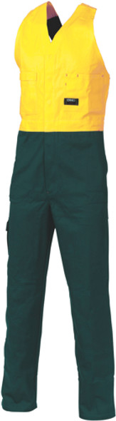3853 - 311gsm HiVis Cotton Action Back Overall