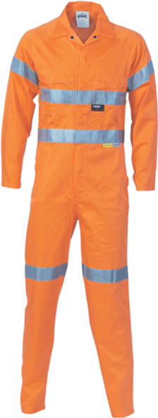 3956 - 190gsm HiVis Cotton Coverall with Tape