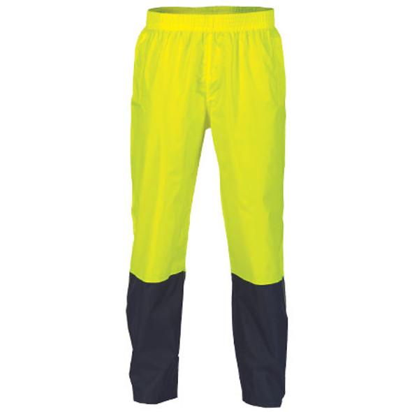 3878 - Hi Vis Two Tone Lightweight Rain Pants - Yellow/Navy
