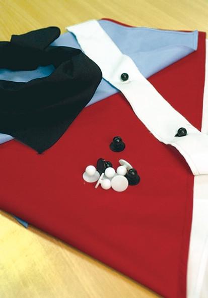 1761 - Chef Jacket Button Strip - pair