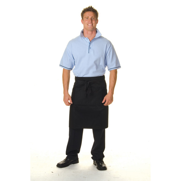 2201 - Cotton Drill Half Apron With Pocket