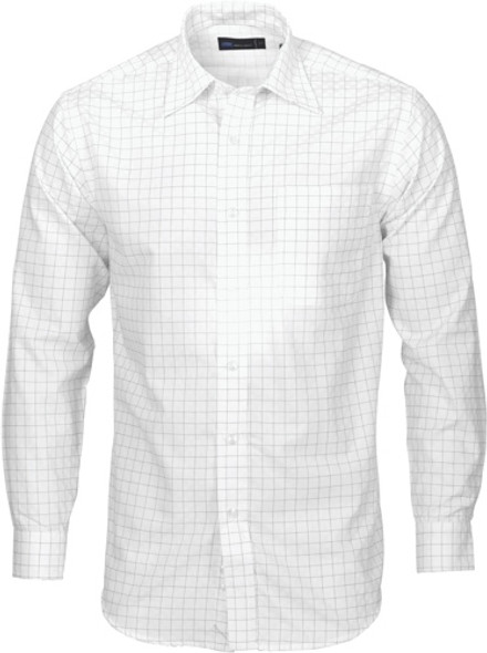 4158 - Cotton Mens Yarn Dyed Check Shirt, L/S