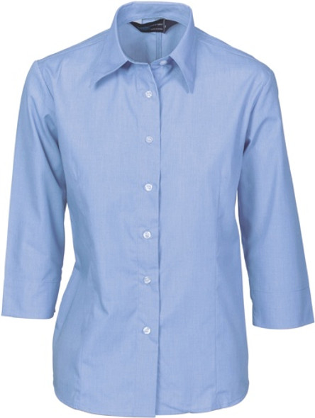 4213 - Ladies Chambray Shirt, 3/4 Sleeve