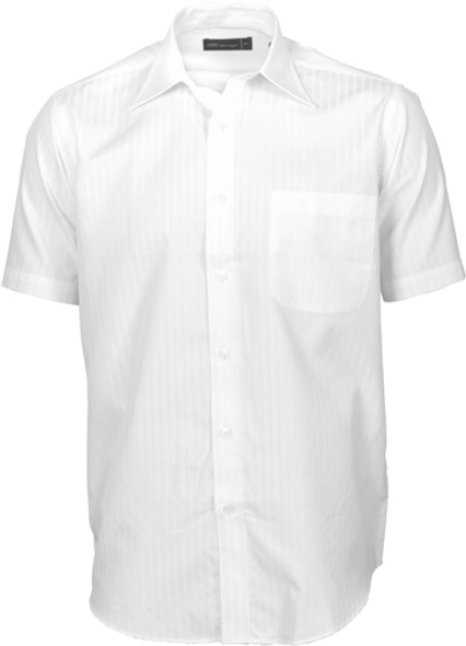 4155 - 60% Cotton Mens Tonal Stripe Shirt, S/S