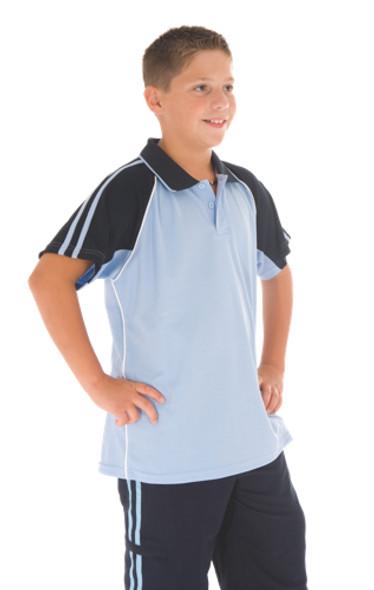 5229 - Kids Cool-Breathe Twin Stripe Polo